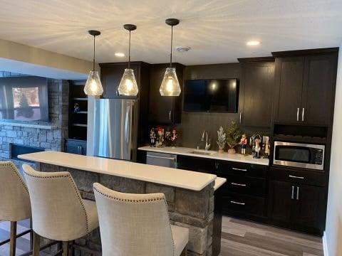Basement finish in Minneapolis, Minnesota - Remodeling